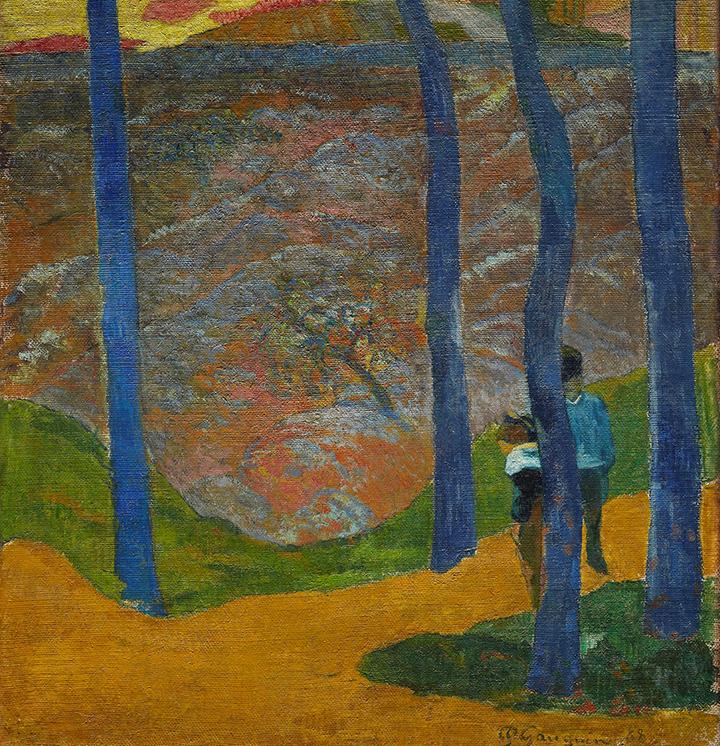 Oplev Ordrupgaard Fra den franskesamling værket af Paul Gauguin. De blå stammer eller, Din tur vil komme, min skønne. 1888.