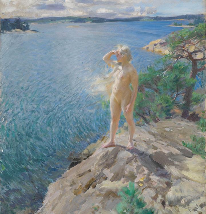 Anders Zorn, I skærgården, 1894, Nasjonalmuseet, Oslo. Fotograf Børre Høstland