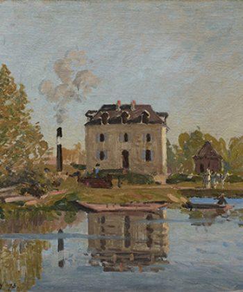 Alfred Sisley. Oversvømmelsen. Seinen ved Bougival. 1873. Fotograf Anders Sune Berg. Ordrupgaards franske samling.