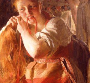 Anders Zorn, Margit, 1891, olie på lærred, Zornmuseet, Mora