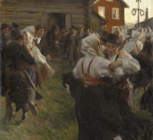 Anders Zorn, Midsommerdans, 1897, olie på lærred, Nationalmuseum, Stockholm