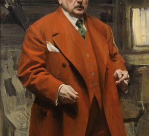 Anders Zorn, Selvportræt, 1915, olie på lærred, Zornmuseet, Mora. Foto Patric Evinger