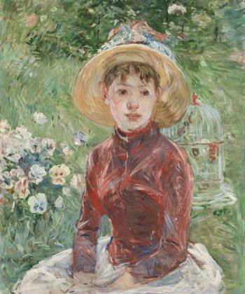 Berthe Morisot. Ung pige i det grønne. (Mlle Isabelle Lambert). (1885) Inv.nr. 251 WH. Fotograf Anders Sune Berg