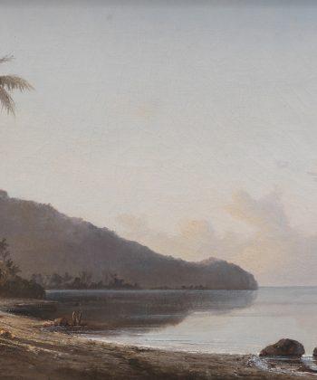 Camille Pissarro. Crique avec voilier, 1856 (Cisneros Foundation Collection)-WEB