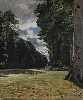 Claude Monet. Chailly-pavéen i Fontainebleau-skoven. (1865). Fotograf Anders Sune Berg. Ordrupgaards franske samling.