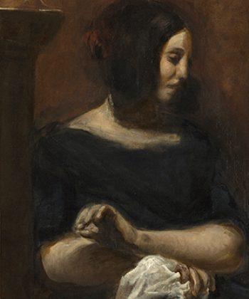 Eugène Delacroix. George Sand. (1838).318x375px. Fotograf Anders Sune Berg