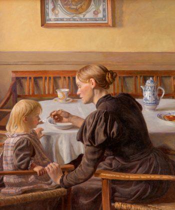 Fritz-Syberg.-Moder-og-datter,-1898-1899-(SMK)
