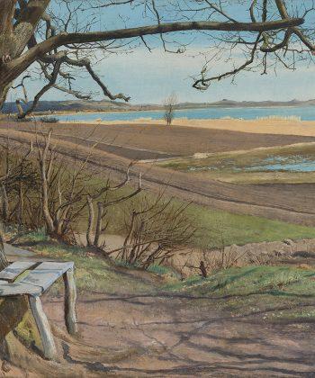 L.A. Ring. Lundbyes bænk ved Arresø. Frederiksværk. 1899. Inv.nr. 56 WH. Fotograf Anders Sune Berg-lav