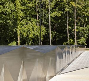 Nærbillede af Snøhettas bygning, eksteriør, Ordrupggard. Foto Laura Stamer