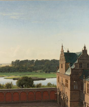 P.C. Skovgaard. Udsigt fra Fredriksborg Slot. 1842. Inv.nr. 73 WH. Fotograf Anders Sune Berg
