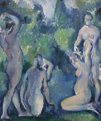 Paul Cézanne. Badende kvinder. Cirka malet i 1895