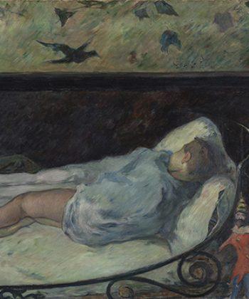 Paul Gauguin. Den lille drømmer, etude. 318x375px. Fotograf Anders Sune Berg