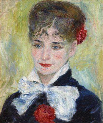 Pierre-Auguste Renoir. Rumænerinde. Mme Iscovesco. 1877. Fotograf Anders Sune Berg. Ordrupgaards franske samling.
