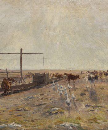 Theodor Philipsen. Hollænderbrønden i sildig eftermiddagsbelysning. Saltholm. (1886). Shuffle575px. Fotograf Anders Sune Berg