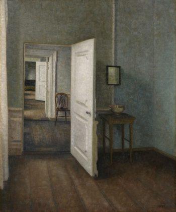 Vilhelm Hammershøi. Interiør. (1914). Inv.nr. 111 WH. Fotograf Anders Sune Berg
