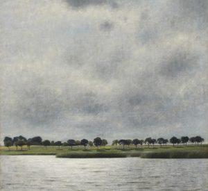Vilhelm Hammershøi. Solregn. Fra Gentofte Sø. (1903). Deponeret af Augustinus Fonden. Ordrupgaard. Fotograf Anders Sune Berg