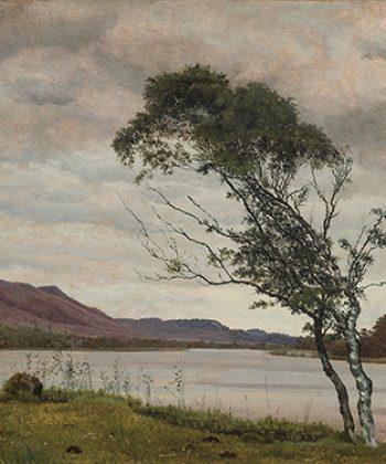 Vilhelm Kyhn. Landskab fra Silkeborg. 1848. Fotograf Anders Sune Berg. Ordrupgaards danske samling.